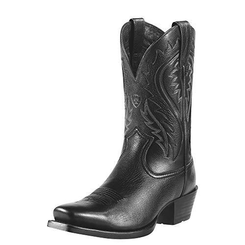 Ariat Men's Legend Phoenix Western Cowboy Boot, Black Deertan, 13 M US