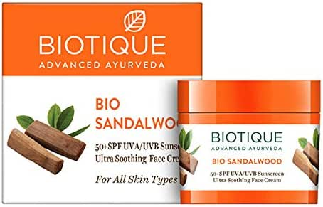 Bio Sandalwood Face and Body Sun Cream SPF 50 Protector solar UVA/UVB: Amazon.es: Belleza
