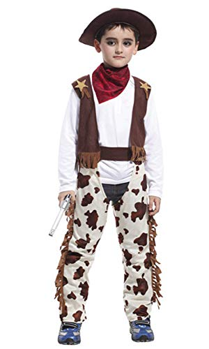 stylesilove Kid Boys Halloween Costume Party Cosplay Outfit Themed Party Birthdays Party (Cowboy, L/7-9 -