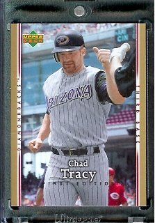 2007 Upper Deck First Edition Baseball Card #170 Chad Tracy Arizona Diamondbacks - Mint Condition - In Protective Display Case !