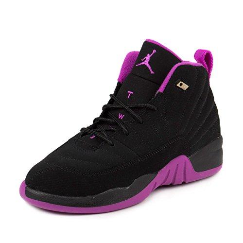 air-jordan-12-xii-retro-ps-black-hyper-violet-purple-us-3y