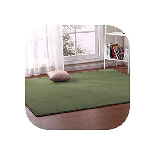 Thick Coral Fleece Carpet Living Room Coffee Table Sofa Blanket Children's Room Mat Bedroom Bedside Bay Window Rectangular Rug,10,80 X160Cm -