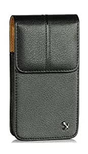 Bloutina Motorola Milestone XT720 Vertical Top Load Leather Case Pouch Built In Magnetic Flap With Swivel Clip Made With...