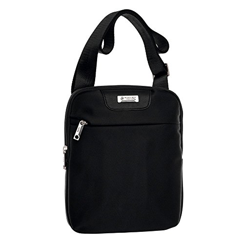 Beverly Hills Polo Club 5095851 Borsa Messenger, Poliestere, Nero, 27 cm