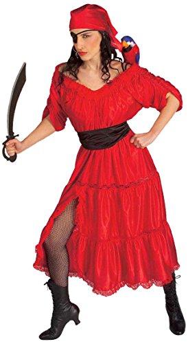 Pirates Caribbean Costumes Uk (Ladies Caribbean Wench Costume Medium Uk 10-12 For Pirate Buccaneer Fancy Dress)