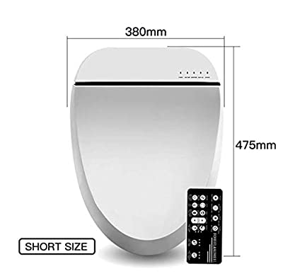 WANGYONGQI Smart Toilet seat Cover led Light Remote Smart Toilet seat Heating Bidet Toilet seat Bathroom Intelligent Toilet seat lid