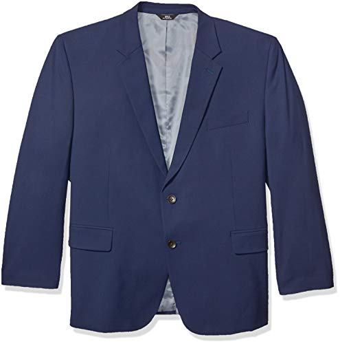 J.M. Haggar Men's Big and Tall B&T 4-Way Stretch Solid Gab Slim Fit Suit Separate Coat, Blue, 58R