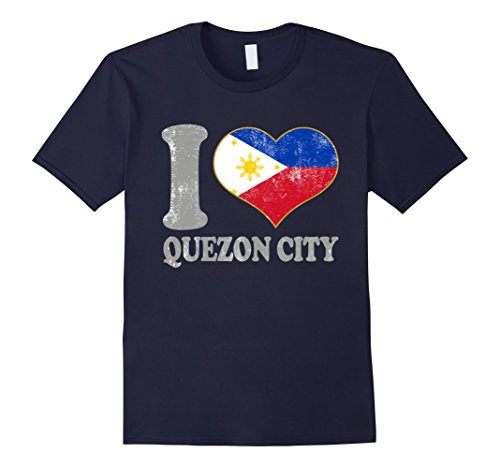 Mens Quezon City Filipino Flag Adults Teen Retro Kids Attire Cool Small Navy