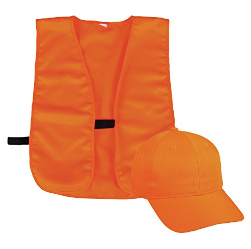 Outdoor Cap Blaze Cap and Vest, 1 Unit, Blaze Orange (Blaze Orange Safety Vest)