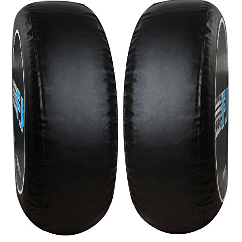 Moonet Spare Tire Cover PU Leather Car Truck SUV Camper For Toyota FJ Cruiser Size XL R17 P265/75R16 P255/75R17 P255/80R16 (Diameter 31