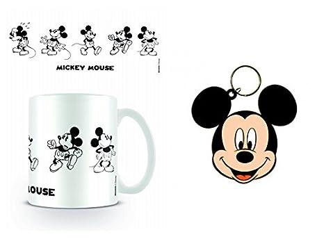 1art1 Set: Mickey Mouse, Vintage Taza Foto (9x8 cm) Y 1 ...