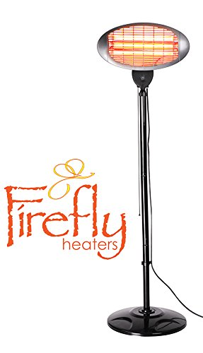 2.000 Watt Firefly Quarz-Heizstrahler, höhenverstellbar mit 3 Wärmestufen