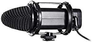 BOYA BY-V02 Stereo Audio Condenser Microphone with Windshield for Canon Nikon DSLR