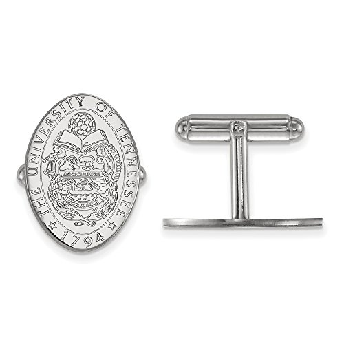 University Sterling Silver Cufflinks (Solid 925 Sterling Silver University of Tennessee Crest Cuff Link (15mm x 21mm))
