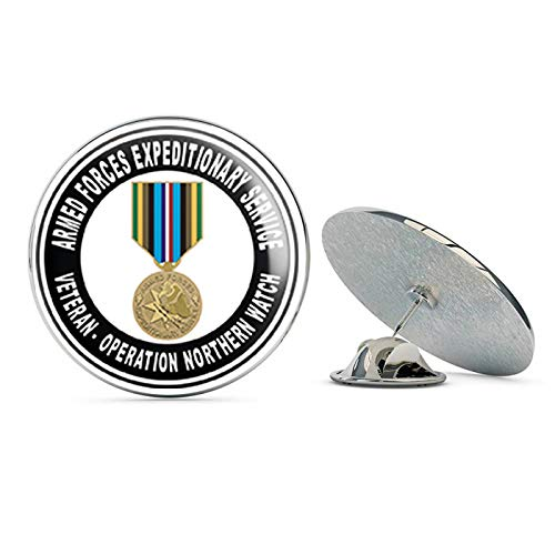 "TG Graphics Armed Forces Expeditionary Medal Operation Northern Watch Steel Metal 0.75"" Lapel Hat Shirt Pin Tie Tack Pinback from TG Graphics"