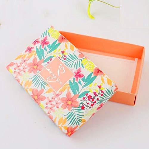 Floral Pattern Favor Boxes - XLPD 20Pcs/Lot 18124 cm Floral Printed Flower Wedding Favors Candy Boxes Party Gift Boxes Orange Large Size Orange 18x12x4cm