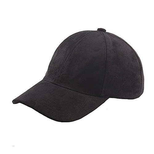 VANCOL Soft Faux Leather Suede Hat Baseball Cap (Black) (Suede Black Hat)