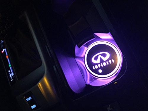 Car Logo Led Cup Pad Led Cup Coaster Usb Charging Mat Luminescent Cup Pad Led Mat Interior Atmosphere Lamp Decoration Light  Infiniti