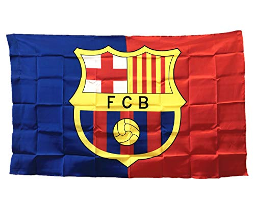 UHBHEA Barcelona Soccer Flag - FC Club Banner for Wall Patio Garden Lawn Outdoor Nylon Flag Red/Blue / Home 5935IN ()