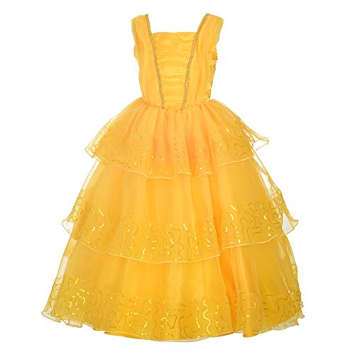 Dressy Daisy Girls Dress Up Princess Belle Costumes Halloween Fancy Party Dress