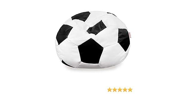 Italpouf - Puf de fútbol de Piel sintética Negra Grande, puf Saco ecopiel balón XL XXL, puf balón Blanco-Negro, sillón Saco fútbol: Amazon.es: Hogar