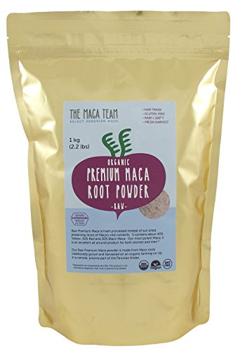 Certified Organic Premium Maca Powder - Incredibly Potent, Fresh Harvest From Peru, Fair Trade, Gmo-free, Gluten Free, Vegan and Raw, 2.2 Lb - 111 Servings