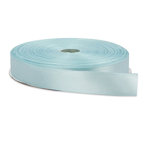 Topenca Supplies 1-Inch Wide 100-Yards Long Double Face Solid Satin Ribbon Roll, Baby - With People Long Faces