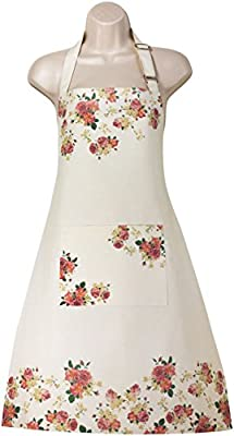 Women's Apron for Kitchen, Cooking, Baking with Bib and Large Pocket, Cute Patterns by Red Cat Dreams