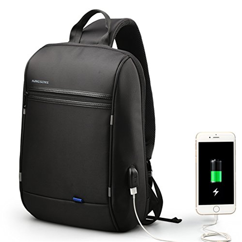GWELL Unisex Anti Theft Single Shoulder Laptop Backpack Waterproof Coss-body Sling Bag with USB Charging Port