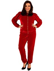 Chocolate Pickle Womens Full Zip Velour Hooded Sports Track Suits