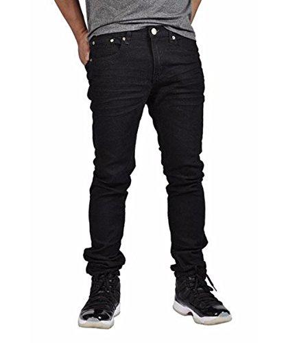 Indigo People Men's Denim Pants Premium Quality Skinny Fit Stretch Jeans 29023 Black 40x32