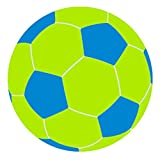 Turbo BeanBags Soccer Ball Multicolor Bean Bag Chair, Large, Lime/Sky