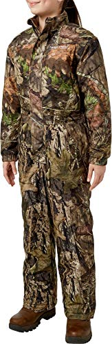 Field & Stream Youth Pursuit Insulated Hunting Coveralls (Mossy Oak Country, Large)