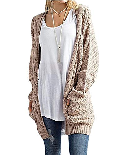Sweater Longue Femme Cardigan Cardigans Maille Manches Gilets Casual Kaki Longues en 4tqnnEUw