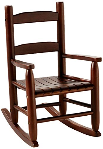 Traditional Rocking Style Chair - Lipper International 555WN Child's Rocking Chair, 14.5