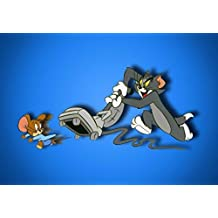 CAKEUSA TOM AND JERRY Birthday Cake Topper Edible Image 1/4 Sheet Frosting