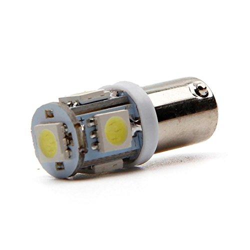Price comparison product image Ecosin® 1 Pcs white blue car BA9S LED bulbs 12V car drove cars 5 5050 5 SMD LED (White)