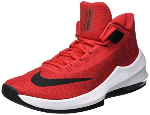 Mid Shoes Air black 2 Men 's Infuriate Nike white Multicolour Red Max university 600 Basketball 84wSYqnF
