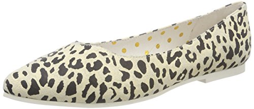 LOLA RAMONA Mimi, Ballerine Punta Chiusa Donna Mehrfarbig (Leopard)