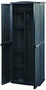 Keter 17190094 - Armario para exterior (plástico), color antracita