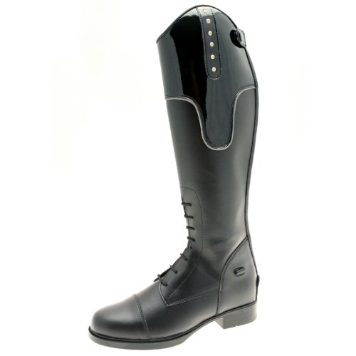 Tuffa Kids Jubilee Synthetic Riding Boot - Black, Size 34