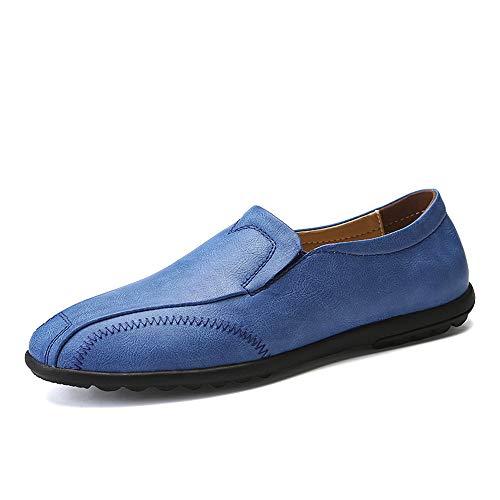 Xujw-shoes, 2018 Scarpe Stringate Basse Business Oxford da uomo Casual leggero in morbida pelle traspirante con un pedale Lofer (Color : Rosso, Dimensione : 44 EU) Blu