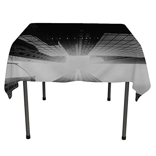 Black White High Build g Lamp Tree Christmas Tablecloth Custom tablecloths Rectangle Tablecloth 60 by 120 inch