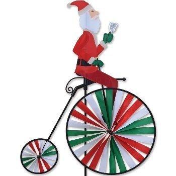 High Wheel Bike Spinner - Santa by Premier Kites