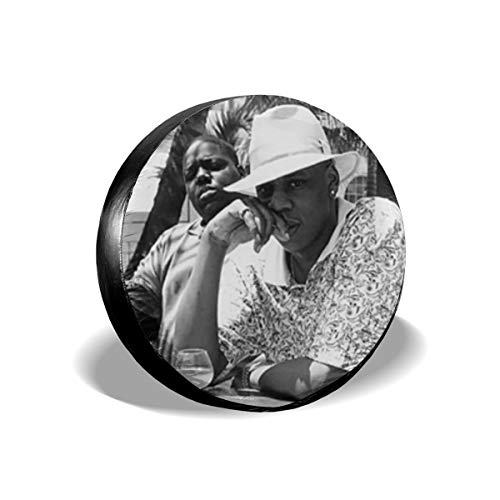 Linyuhui Jay-Z & Biggie- Brooklyn's Finest Travel Freedom Camper SUV Distributing Black Spare Tire Cover