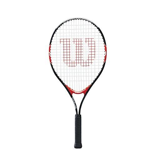 (Wilson Federer Junior Tennis Racquet (25-Inch, Black/Red))