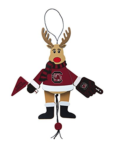 NCAA South Carolina Fighting Gamecocks Wooden Cheer Ornament