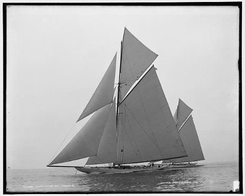 (Infinite Photographs Photo: 1901,Constitution,Columbia,America's Cup Races,sloop,Yachts,Boats,Ships,Sailing )