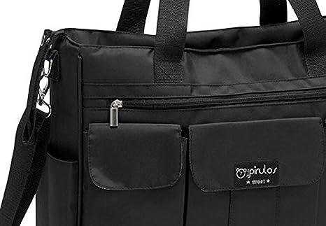 Pirulos Bolso Gemelar + Cambiador Bebé Portátil de Gran Tamaño con Materiales de Alta Calidad/bolso Carro Gemelar, Medidas 45x35x13cm Color Negro
