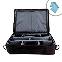 GamePack 11-Inch Amiibo Carrying Case Travel Bag with Customizable Padded Dividers and Adjustable Shoulder Strap - Holds Up to 6 Nintendo Amiibo Figures